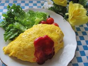 朝食に♡まな板不要の栄養満点オムライス