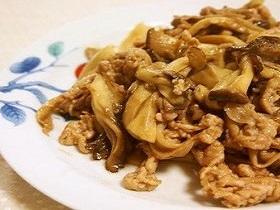 包丁いらず♫豚肉ときのこのポン酢炒め