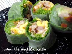 韓国風「焼肉生春巻き」
