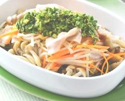 豚肉としゃきしゃき野菜のレンジ蒸し(10分以下)